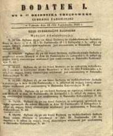 Dziennik Urzędowy Gubernii Radomskiej, 1846, nr 43, dod. I
