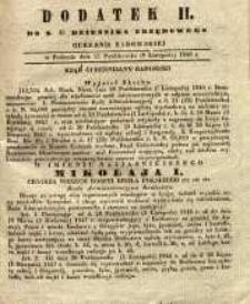 Dziennik Urzędowy Gubernii Radomskiej, 1846, nr 45, dod. II