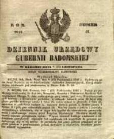 Dziennik Urzędowy Gubernii Radomskiej, 1846, nr 46