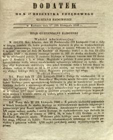 Dziennik Urzędowy Gubernii Radomskiej, 1846, nr 48, dod.