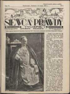 Siewca Prawdy, 1934, R.4, nr 8