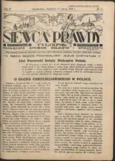 Siewca Prawdy, 1934, R. 4, nr 11
