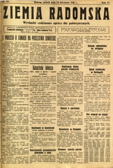 Ziemia Radomska, 1931, R. 4, nr 81