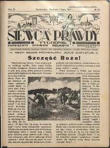 Siewca Prawdy, 1934, R. 4, nr 27