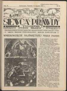 Siewca Prawdy, 1934, R. 4, nr 33