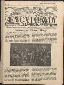 Siewca Prawdy, 1934, R.4, nr 34