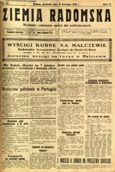 Ziemia Radomska, 1931, R. 4, nr 83