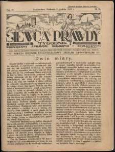 Siewca Prawdy, 1934, R.4, nr 50