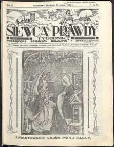 Siewca Prawdy, 1935, R. 5, nr 13