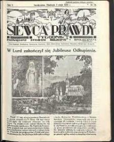Siewca Prawdy, 1935, R. 5, nr 19