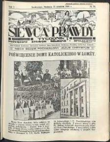 Siewca Prawdy, 1935, R.5, nr 38