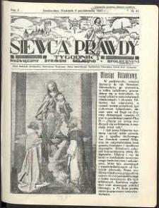 Siewca Prawdy, 1935, R. 5, nr 41