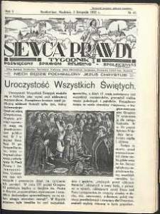 Siewca Prawdy, 1935, R. 5, nr 45