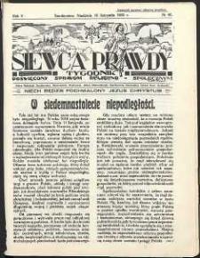 Siewca Prawdy, 1935, R. 5, nr 46