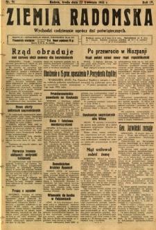 Ziemia Radomska, 1931, R. 4, nr 91