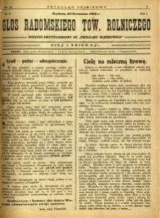Przegląd Sejmikowy : Urzędowy Organ Sejmiku Radomskiego, 1925, R. 4, nr 16, dod.