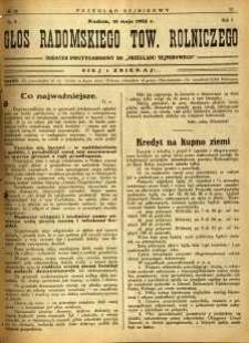 Przegląd Sejmikowy : Urzędowy Organ Sejmiku Radomskiego, 1925, R. 4, nr 20, dod.