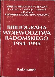 Bibliografia Województwa Radomskiego 1994-1995