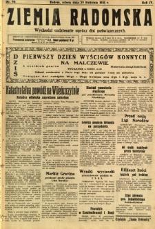 Ziemia Radomska, 1931, R. 4, nr 94
