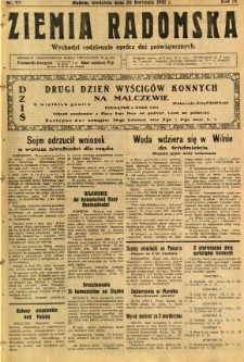 Ziemia Radomska, 1931, R. 4, nr 95