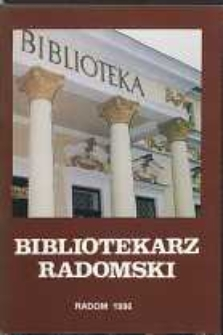 Bibliotekarz Radomski, 1996, R. 4, nr 1-2