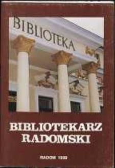 Bibliotekarz Radomski, 1998, R. 6, nr 2
