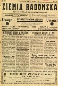Ziemia Radomska, 1931, R. 4, nr 97