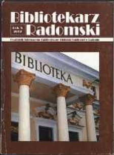 Bibliotekarz Radomski, 2002, R. 10, nr 1