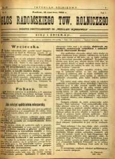 Przegląd Sejmikowy : Urzędowy Organ Sejmiku Radomskiego, 1925, R. 4, nr 23, dod.