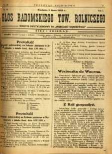 Przegląd Sejmikowy : Urzędowy Organ Sejmiku Radomskiego, 1925, R. 4, nr 25. dod.