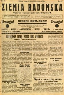 Ziemia Radomska, 1931, R. 4, nr 98