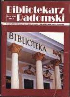 Bibliotekarz Radomski, 2005, R. 13, nr 1