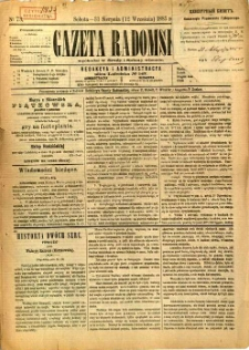 Gazeta Radomska, 1885, R. 2, nr 73