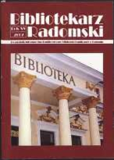 Bibliotekarz Radomski, R. 15, 2007, nr 3-4