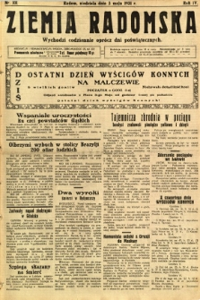 Ziemia Radomska, 1931, R. 4, nr 101
