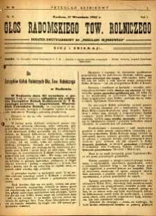 Przegląd Sejmikowy : Urzędowy Organ Sejmiku Radomskiego, 1925, R. 4, nr 36, dod.