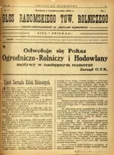 Przegląd Sejmikowy : Urzędowy Organ Sejmiku Radomskiego, 1925, R. 4, nr 38, dod.