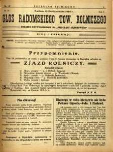 Przegląd Sejmikowy : Urzędowy Organ Sejmiku Radomskiego, 1925, R. 4, nr 40, dod.