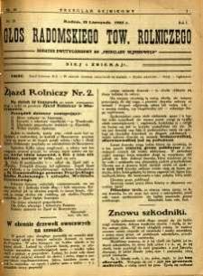 Przegląd Sejmikowy : Urzędowy Organ Sejmiku Radomskiego, 1925, R. 4, nr 44, dod.