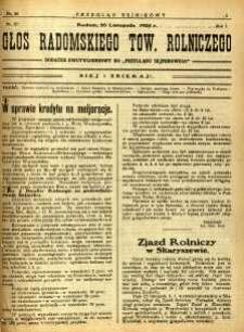 Przegląd Sejmikowy : Urzędowy Organ Sejmiku Radomskiego, 1925, R. 4, nr 46, dod.