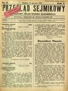 Przegląd Sejmikowy : Urzędowy Organ Sejmiku Radomskiego, 1926, R. 5, nr 3
