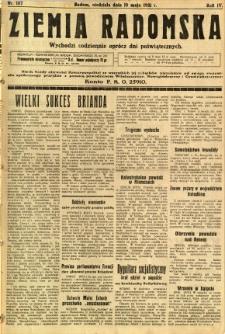 Ziemia Radomska, 1931, R. 4, nr 107