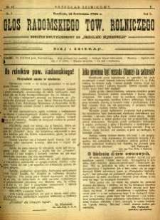 Przegląd Sejmikowy : Urzędowy Organ Sejmiku Radomskiego, 1926, R. 5, nr 14, dod.