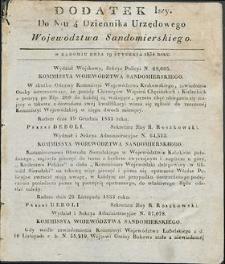 Dziennik Urzędowy Województwa Sandomierskiego, 1834, nr 4, dod. I