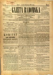 Gazeta Radomska, 1885, R. 2, nr 74