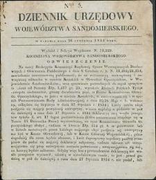 Dziennik Urzędowy Województwa Sandomierskiego, 1834, nr 5, dod. I