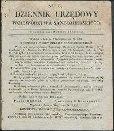 Dziennik Urzędowy Województwa Sandomierskiego, 1834, nr 6