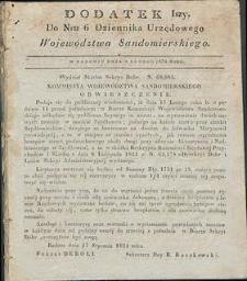 Dziennik Urzędowy Województwa Sandomierskiego, 1834, nr 6, dod. I
