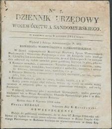 Dziennik Urzędowy Województwa Sandomierskiego, 1834, nr 7
