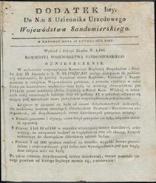 Dziennik Urzędowy Województwa Sandomierskiego, 1834, nr 8, dod. I